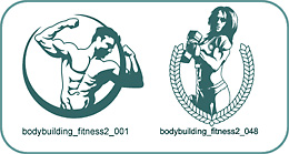 Bodybuilding and Fitness - Free vector lipart in EPS and AI formats.
