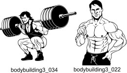 Bodybuilding and Fitness 3 - Free vector lipart in EPS and AI formats.