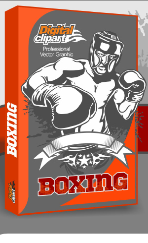 Boxing Clipart - Cuttable vector clipart in EPS and AI formats. Vectorial Clip art for cutting plotters.