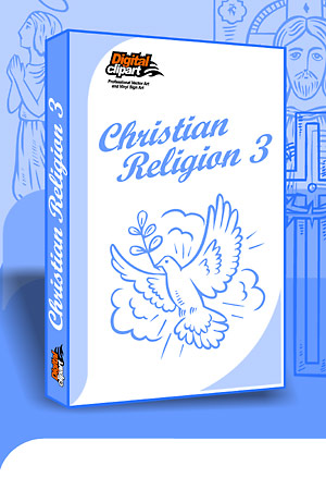 Christian Religion 2 - Cuttable vector clipart in EPS and AI formats. Vectorial Clip art for cutting plotters.