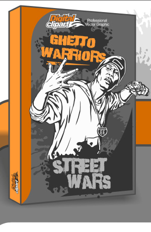 Ghetto Warriors Clipart - Cuttable vector clipart in EPS and AI formats. Vectorial Clip art for cutting plotters.