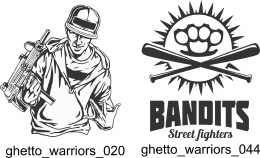 Ghetto Warriors - Free vector lipart in EPS and AI formats.
