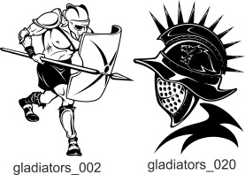 Gladiators Clipart - Free vector lipart in EPS and AI formats.