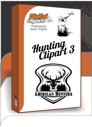 Hunting Clipart 3 - Cuttable vector clipart in EPS and AI formats. Vectorial Clip art for cutting plotters.