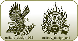 Military Designs - Free vector lipart in EPS and AI formats.