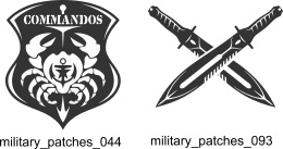 Military Patches - Free vector lipart in EPS and AI formats.