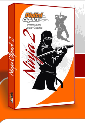 Ninja Clipart - Cuttable vector clipart in EPS and AI formats. Vectorial Clip art for cutting plotters.