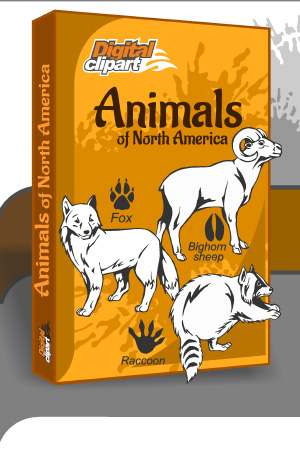 North American Animals - Cuttable vector clipart in EPS and AI formats. Vectorial Clip art for cutting plotters.