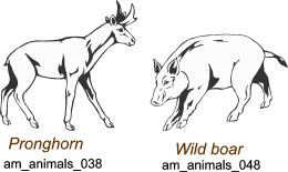 North American Animals - Free vector lipart in EPS and AI formats.