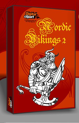 Nordic Vikings - Cuttable vector clipart in EPS and AI formats. Vectorial Clip art for cutting plotters.