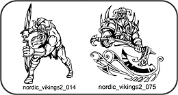 Nordic Vikings 2 - Free vector lipart in EPS and AI formats.