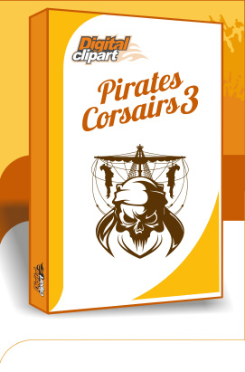 Pirates and Corsairs 2 - Cuttable vector clipart in EPS and AI formats. Vectorial Clip art for cutting plotters.