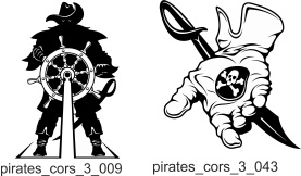 Pirates and Corsairs 2 - Free vector lipart in EPS and AI formats.