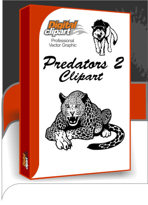 Predators Clipart 2 - Cuttable vector clipart in EPS and AI formats. Vectorial Clip art for cutting plotters.