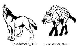 Predators Clipart 2 - Free vector lipart in EPS and AI formats.