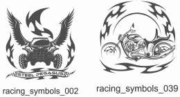Racing Symbols - Free vector lipart in EPS and AI formats.