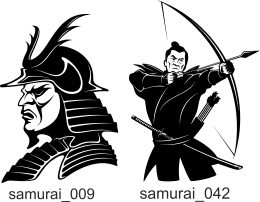 Samurai Clipart. Free vector lipart in EPS and AI formats.