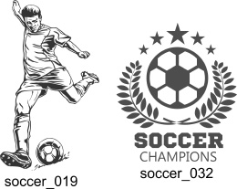 Soccer Clipart - Free vector lipart in EPS and AI formats.