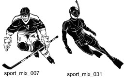 Sport Clipart 2 - Free vector lipart in EPS and AI formats.