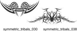 Symmetric Tribals Clipart - Free vector lipart in EPS and AI formats.