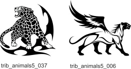 Tribal Animals 4 - Free vector lipart in EPS and AI formats.
