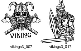 Vikings Clipart 3 - Free vector lipart in EPS and AI formats.
