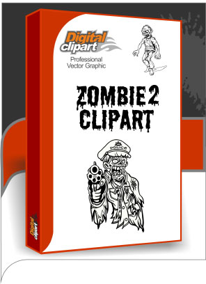 Zombie Clipart 2  - Cuttable vector clipart in EPS and AI formats. Vectorial Clip art for cutting plotters.