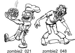 Zombie Clipart 2 - Free vector lipart in EPS and AI formats.